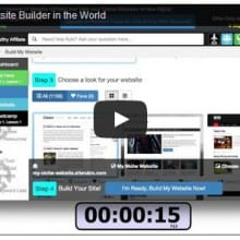 Video of the fastest website builder ever...