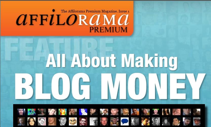 Affilorama Premium Membership monthly magazine front cover image