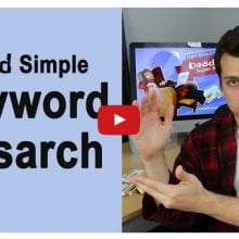 Dan teaches us about keyword research using Googles free adwords keyword tool