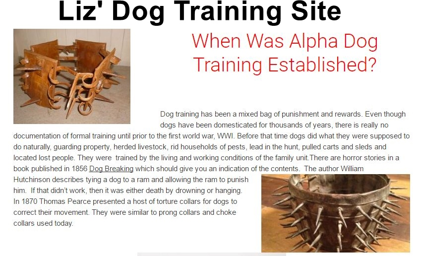 Liz's Dog Training Site