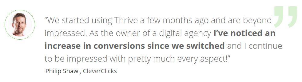 Thrive customer testimonial