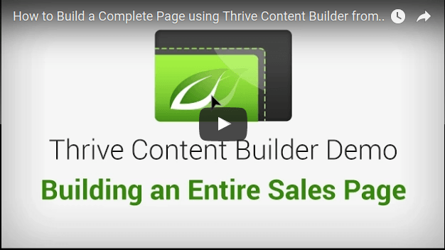 thrive content builder plugin duplicating a sales page