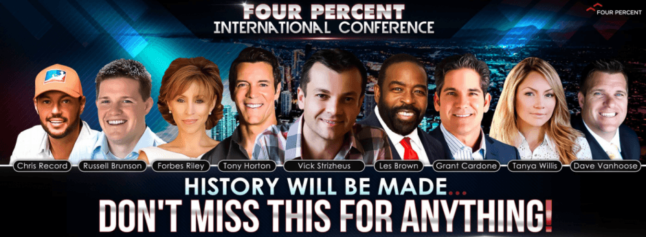 Four Percent Group Live Orlando 19th - 21st June