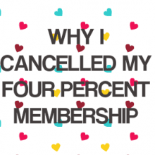 Post with video explaining why I cancelled mu four percent membership